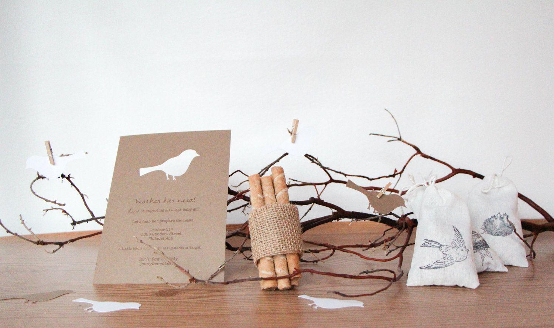 bird in nest baby shower | Feather Her Nest, Rustic Bird Baby Shower ...