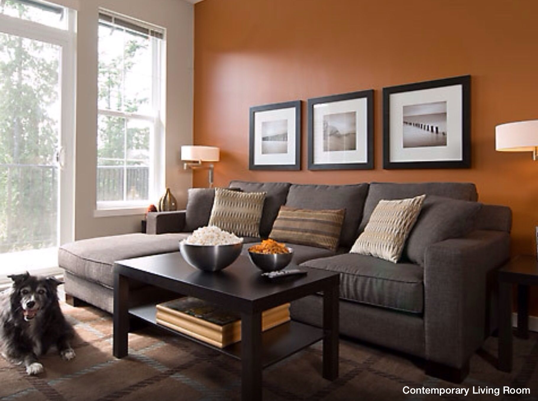 Wall Accent Color Burnt Orange Living Room Living Room Orange Orange Living Room Walls