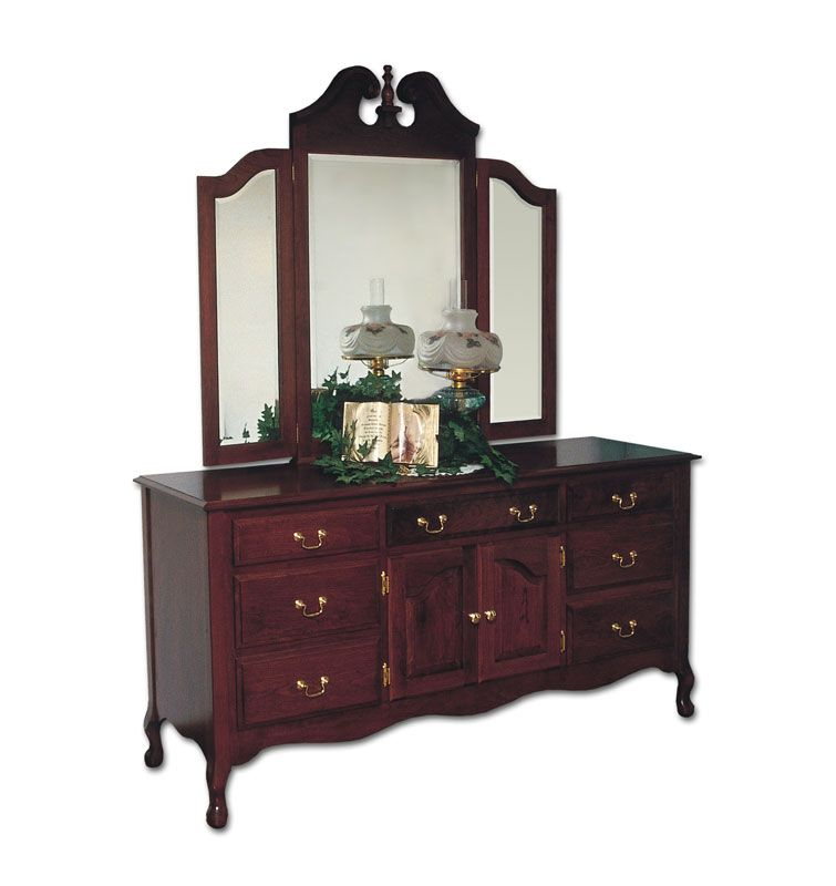 queen anne master dresser ohio hardwood furniture