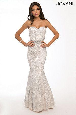 Jovani 22306 mermaid prom dress on sale   Mia Bella Couture   Mint ...