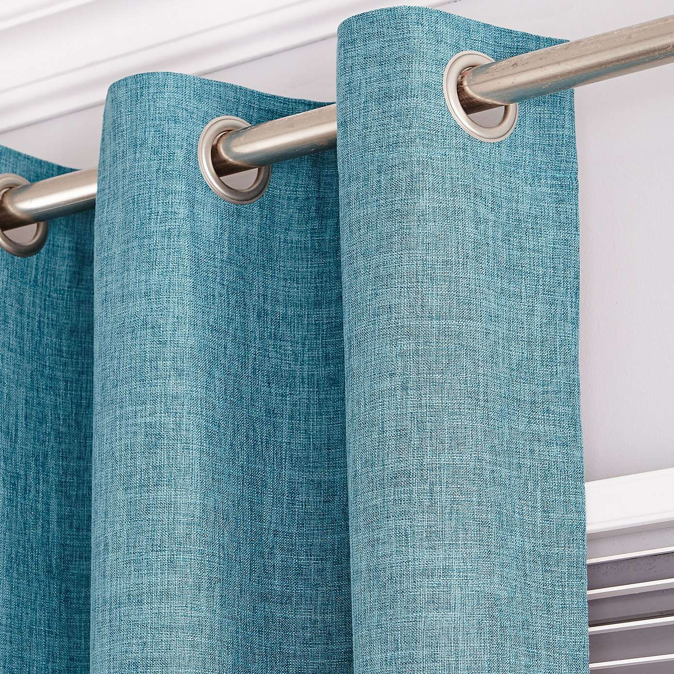 Vermont Teal Lined Eyelet Curtains | Dunelm | bykomend | Pinterest ...