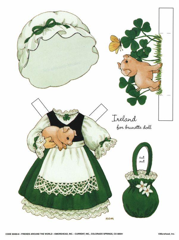 Paper Dolls | Paper Dolls | Pinterest | Papel, Muñecas y Irlanda