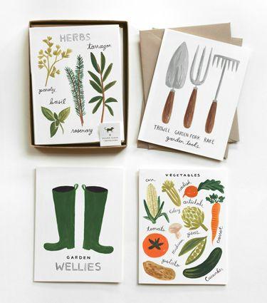 garden card set.