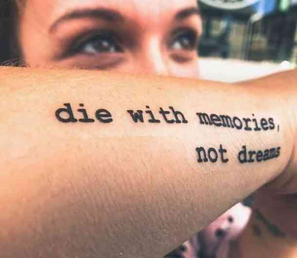 48 Best Inspirational Quotes For Motivational Tattoo Ideas With Meaning -  A necessary reminder to live life to the fullest. #tattoo #quotetattoo #quotes #tattoos Follow us o -