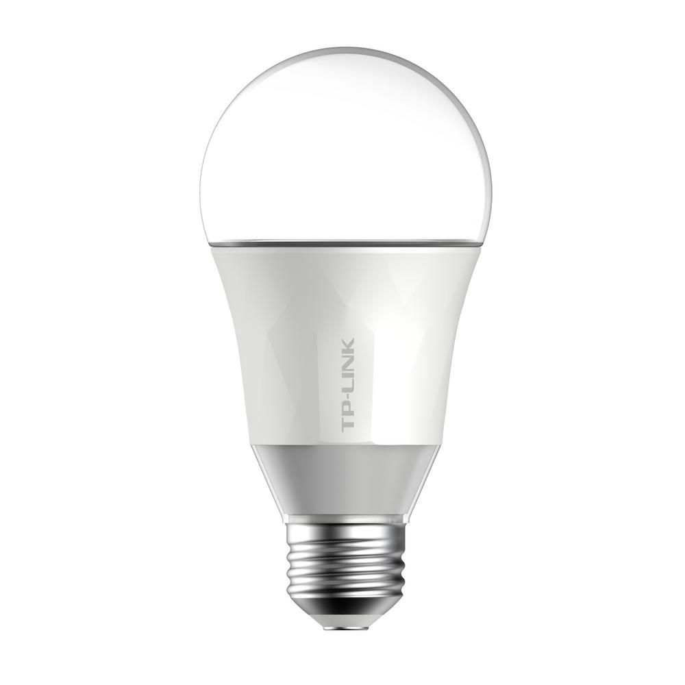 Tp Link 50 Watt Smart Wi Fi Led Bulb With Energy Monitoring Lb100 The Home Depot Smart Light Bulbs Led Light Bulb Bulb