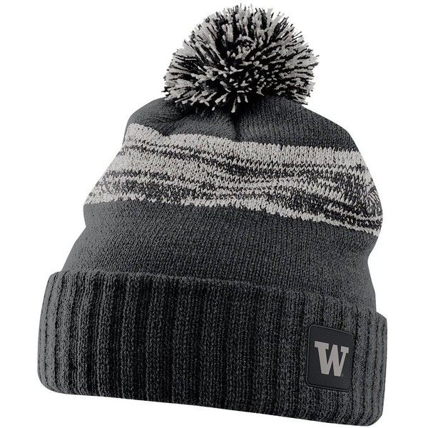 d54fe9cc712 Nike Washington Huskies Striped Knit Beanie ( 32) ❤ liked on Polyvore  featuring accessories