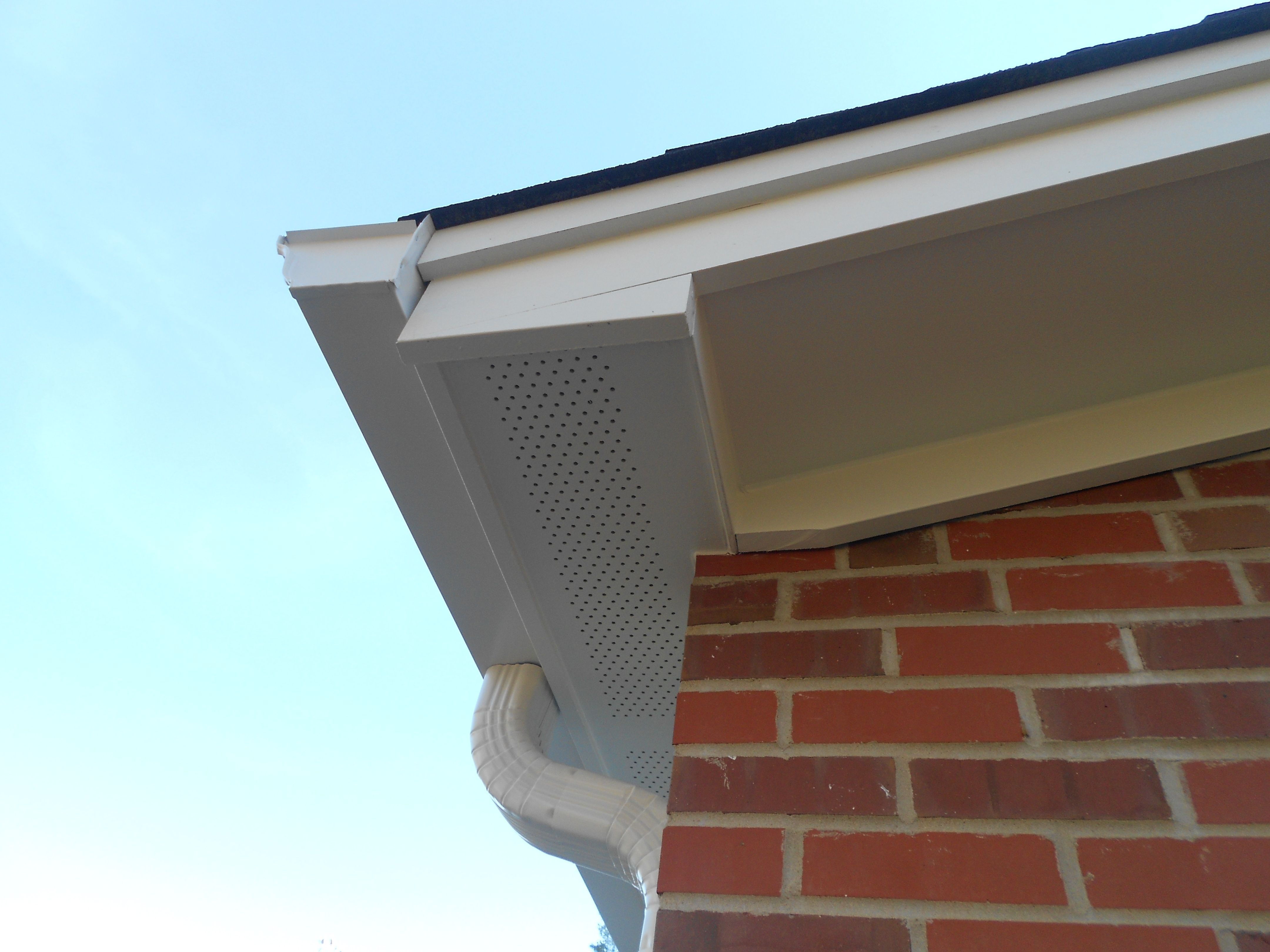 Close Up Of Soffit And Fascia The Fascia Is Aluminum Wrap