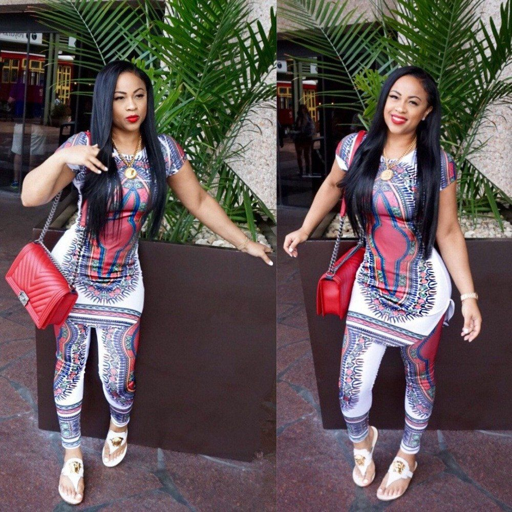 African Style Tops+pants Set #africanstyleclothing