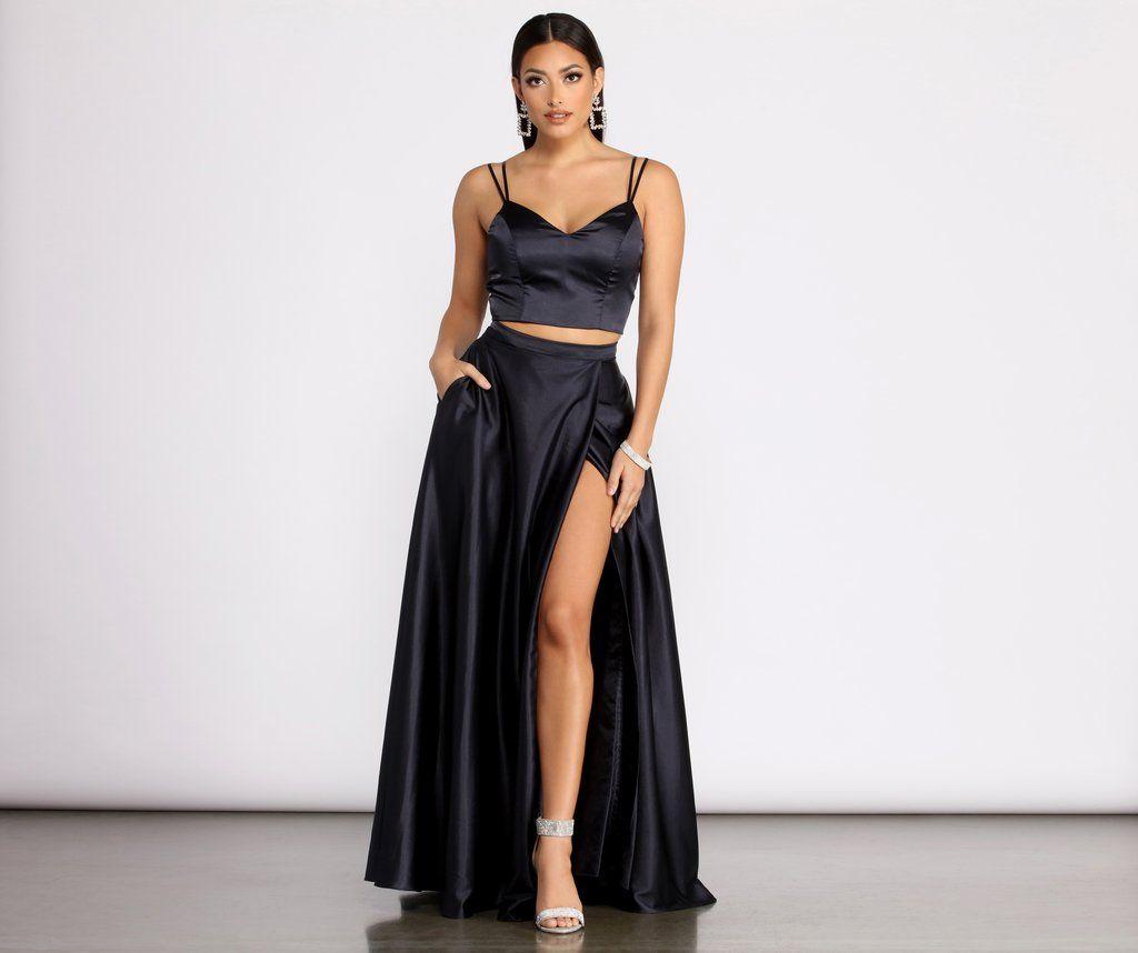 Naomi Satin Two Piece Dress Two Piece Dress Piece Dress Dresses [ 858 x 1024 Pixel ]