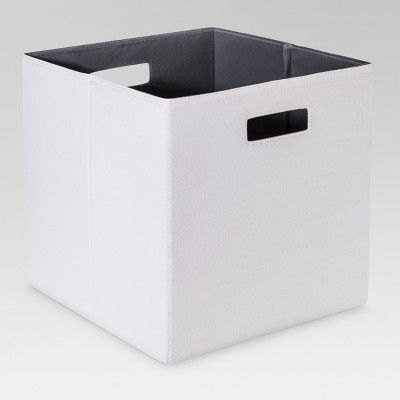 13 Fabric Cube Storage Bin White Threshold Brown Storage Bins Cube Storage Fabric Storage Bins