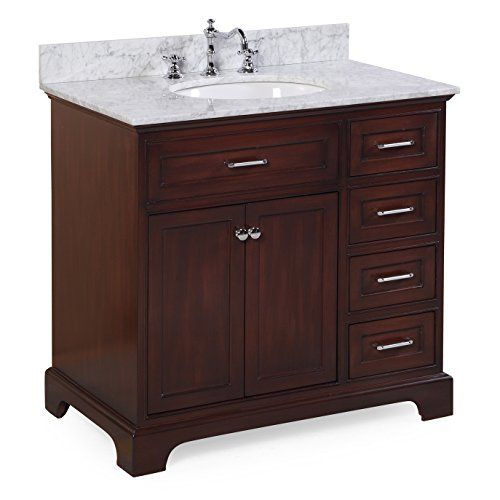 Aria 36 Inch Bathroom Vanity Carrara Chocolate Include Https