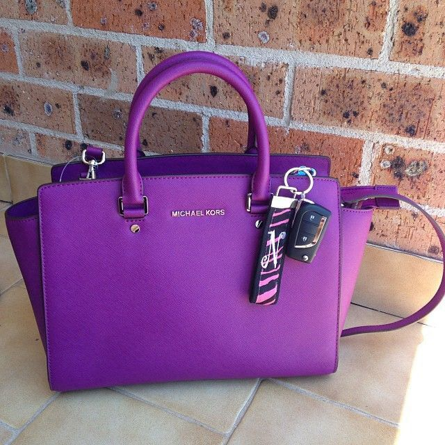 michael kors purple tote