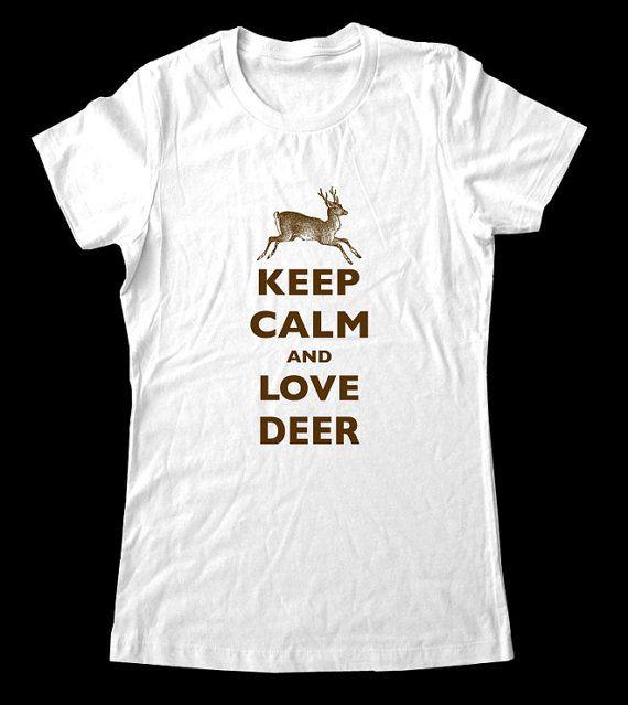 I Love Heart Deer T-Shirt