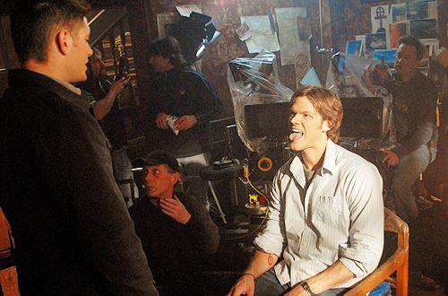 J2 on set #Supernatural