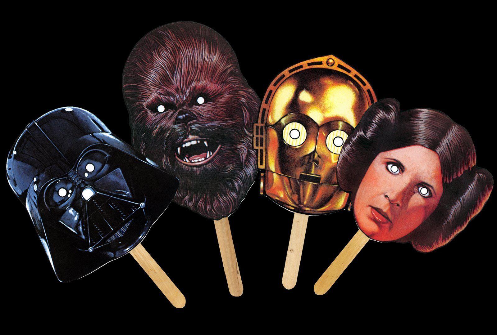 star wars masks! Star wars masks, Star wars party, Star wars