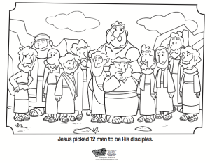 12 Disciples Coloring Page - Bible Coloring Pages | Bible crafts and ...