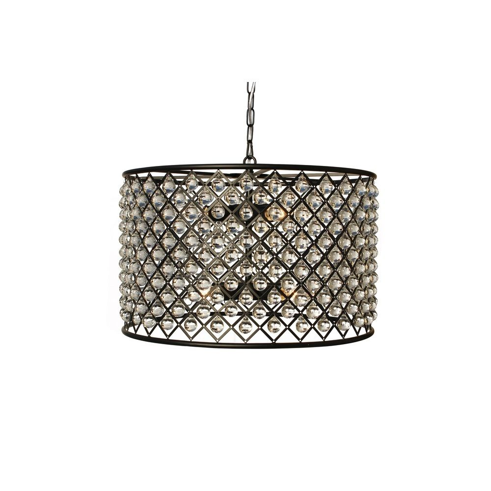 Superb Cassiel Oil Rubbed Bronze Drum Crystal Chandelier   Overstock™ Shopping    Great Deals On Chandeliers