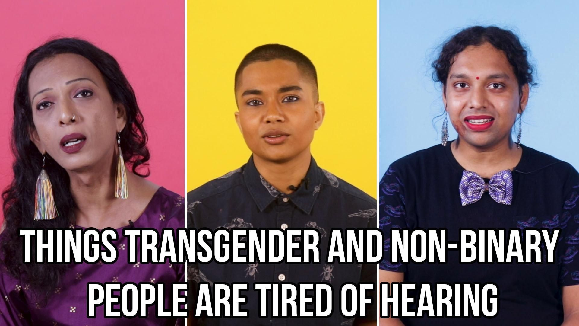 Watch: BuzzFeed Video - Things Transgender And Non-Binary People Are