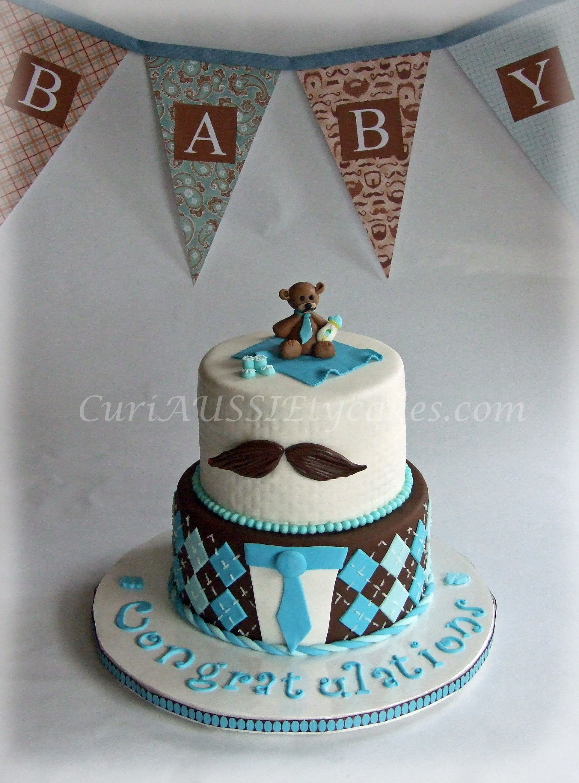 Mustache baby shower cake Mustache theme party so they wanted the