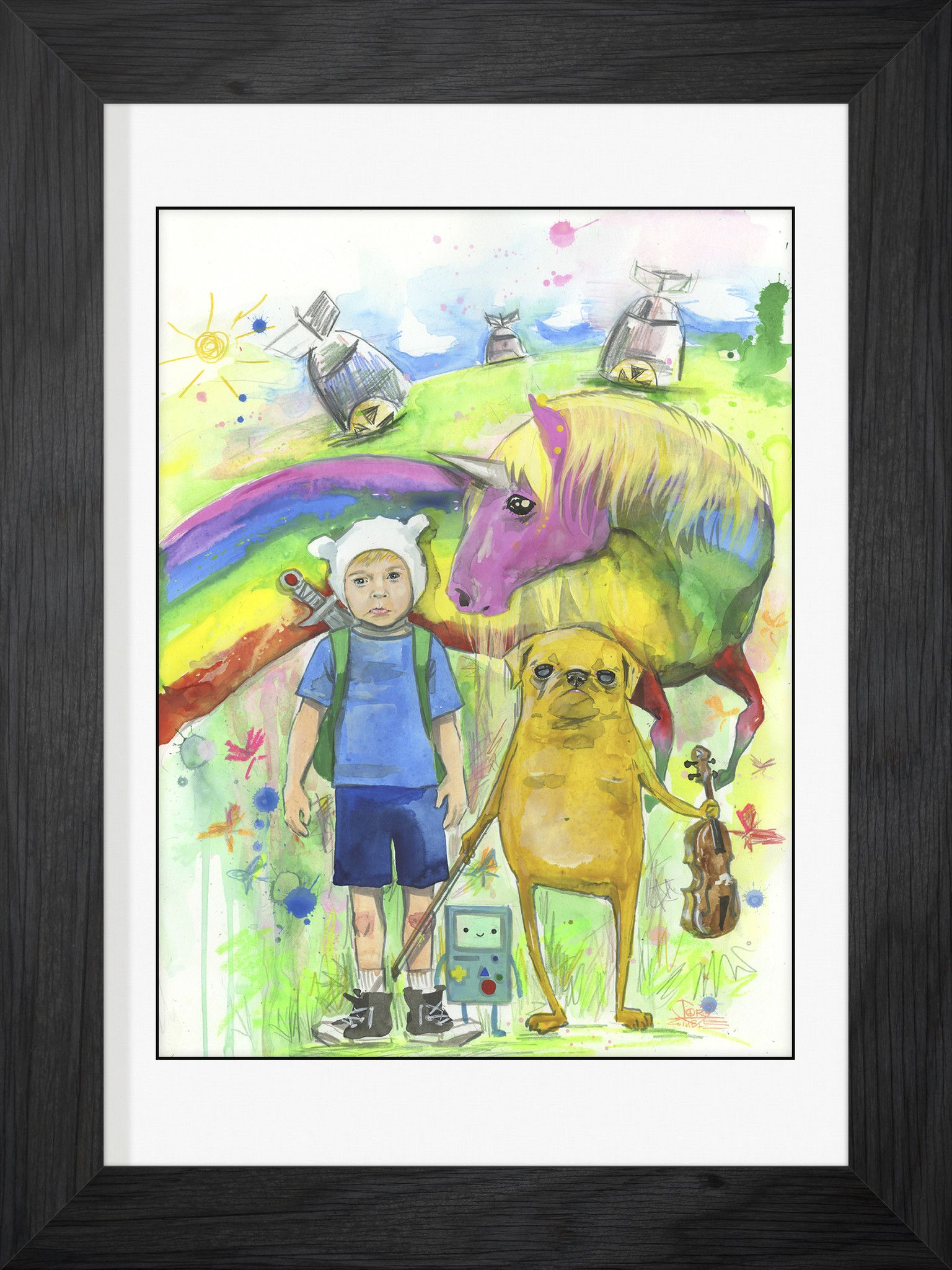 Adventure Time Framed Fine Art Print by Lora Zombie - Available in a ...