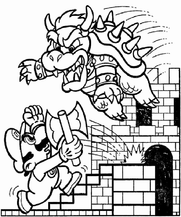 Super Mario Brothers Coloring Page Luxury Mario Bros