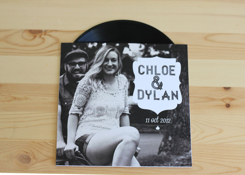 Custom Vinyl Music Record Wedding Invitation (authentic vinyl ...