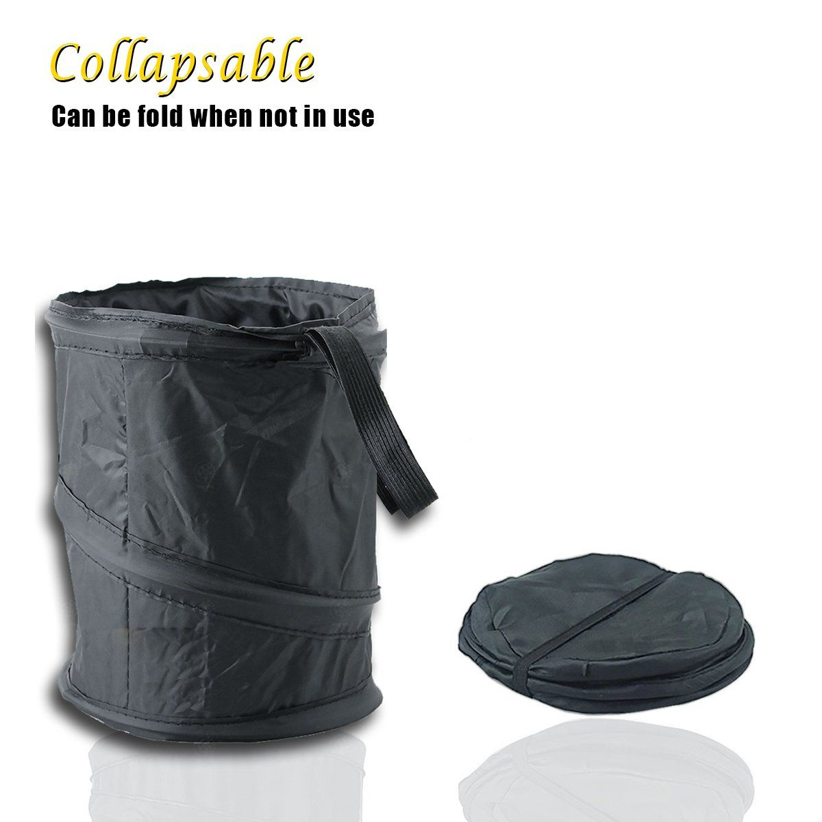 Foldable Trash Can Car Multi-Use Outdoor Camping Rubbish Bucket with Handle