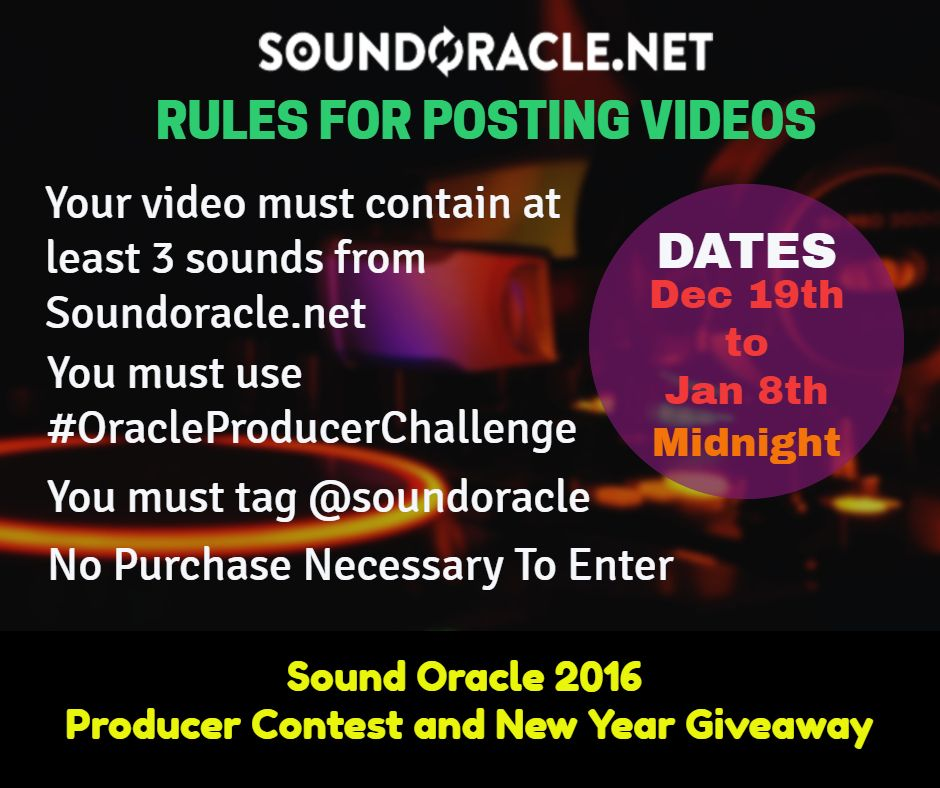 ProducerContest rules for posting videos for the