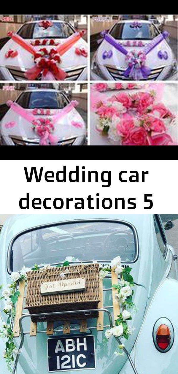Wedding car decorations 5 #swisscoffeebenjaminmoore