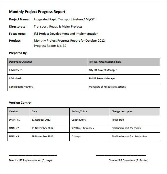 project status report example Abu Pinterest Template
