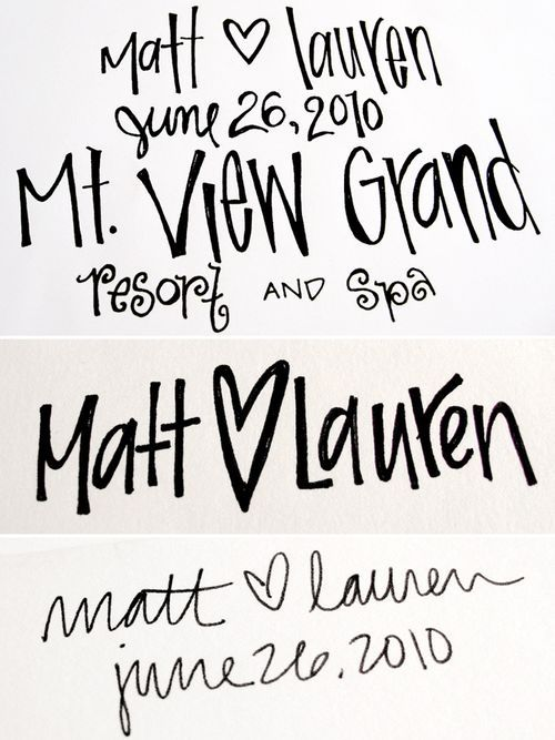 Matt  LaurenS Hand Lettered Save The Dates  Super Excited