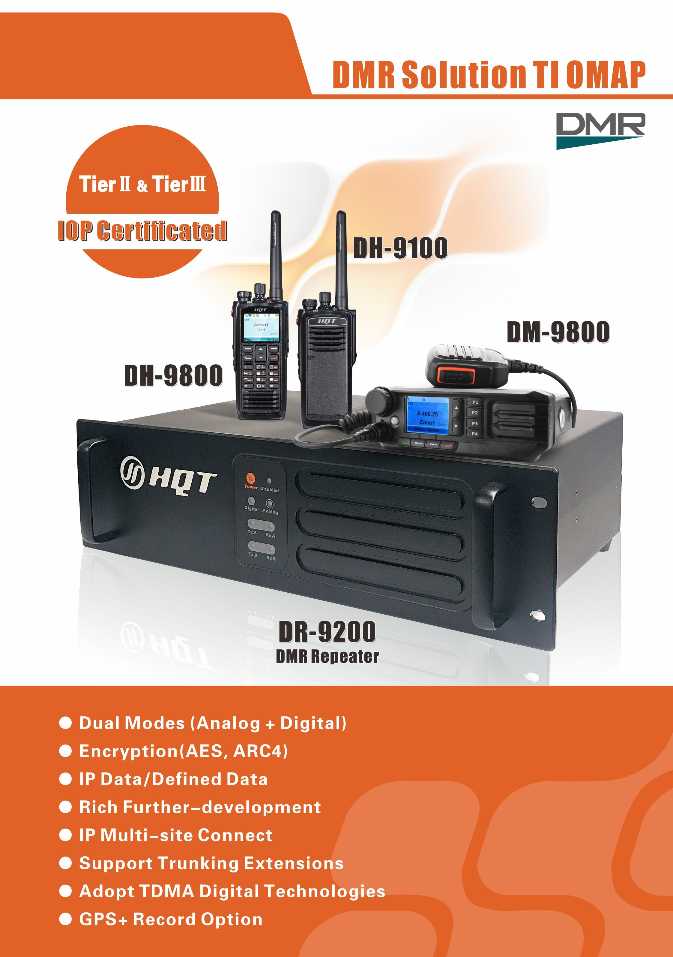 HQT DH-9800, DH-9100, DM-9800 and DR-9200, high-end products