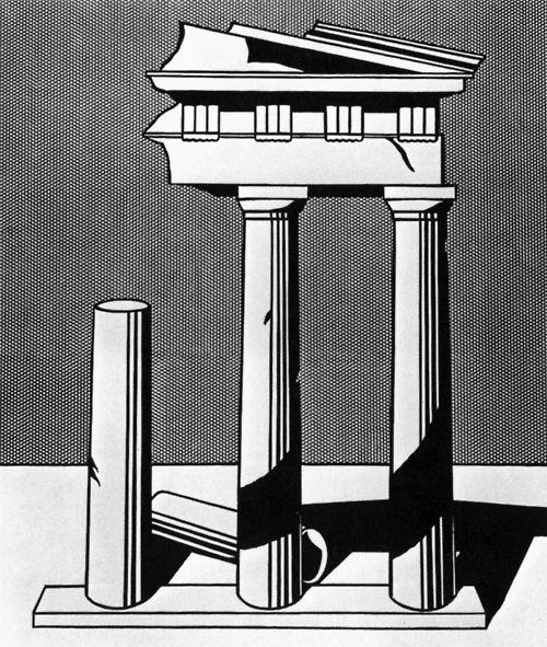 Roy Lichtenstein Temple Ii 1965 Art Movement Modern Art Roy Lichtenstein