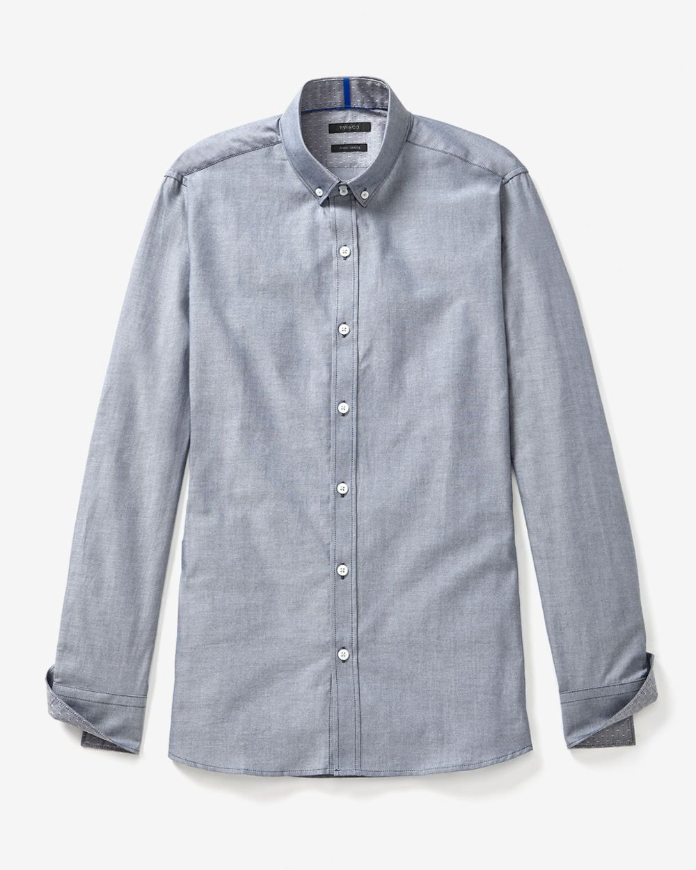 Fitted long sleeve shirt in two-tone Oxford   RW&CO.