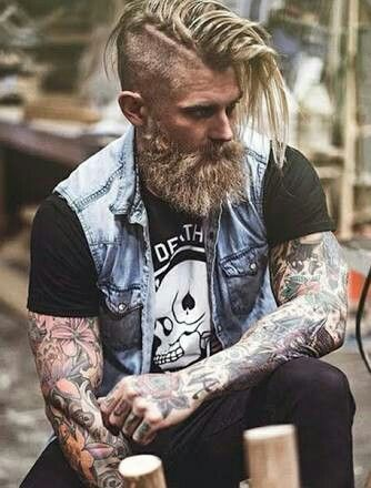 to see as the whole figure men s hair samurai viking style