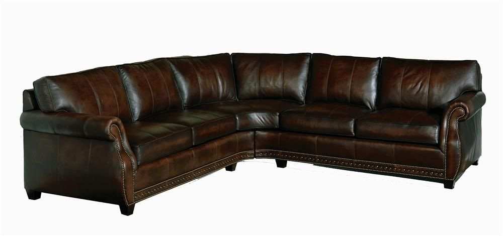 Bradley Leather Sectional By Bernhardt Knoxville