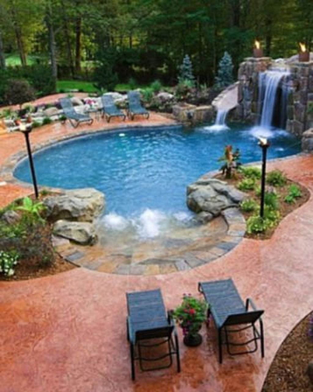 35 Remarkable Cool Backyard Pools For Inspiration Cool Swimming Pools Swimming Pools Backyard Pool Houses