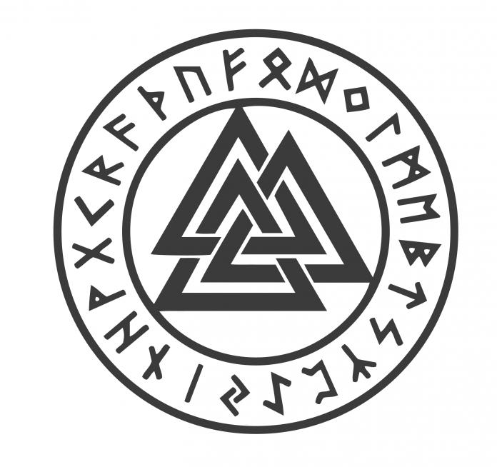 Pagan Symbols Odin S Knot Valknut Meaning Norse Symbols