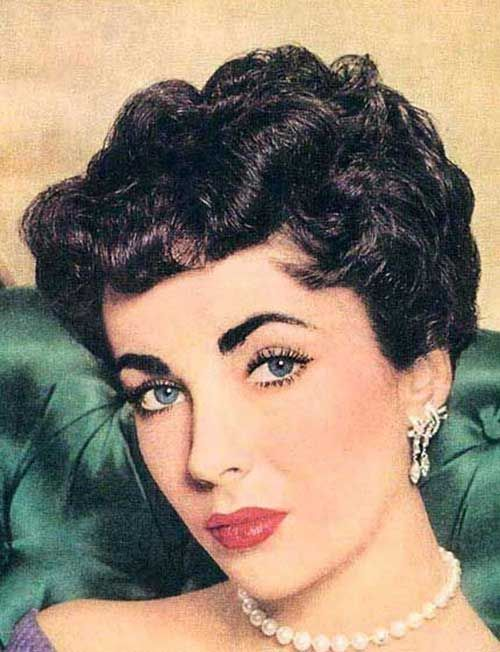 Nice 50s Short Curly Celeb Hairstyle For 2015 Girls Sn Fashion Style 50s Hairstyles Vintage Short Hair Vintage Hairstyles