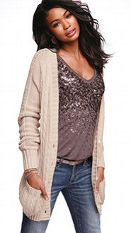 Sweater with sparkly top - Victoria's Secret