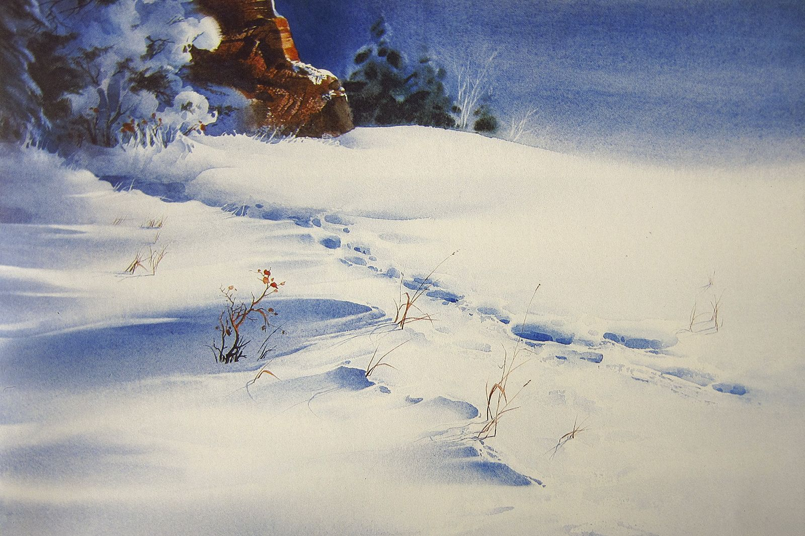 Zoltan Szabo Watercolor Watercolor Landscape Paintings Winter