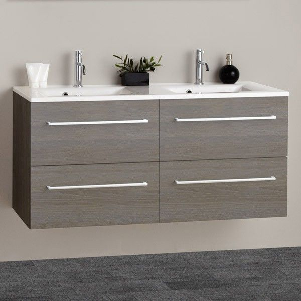 Scanbad Multo Mikado Double Basin Double Drawer Furniture Pack Multo gives  you modern  functional quality furniture for your bathroom Features   Grey  Wood   Scanbad Multo Mikado 120cm Double Basin Double Drawer Furniture  . Double Sink Vanity Units For Bathrooms. Home Design Ideas