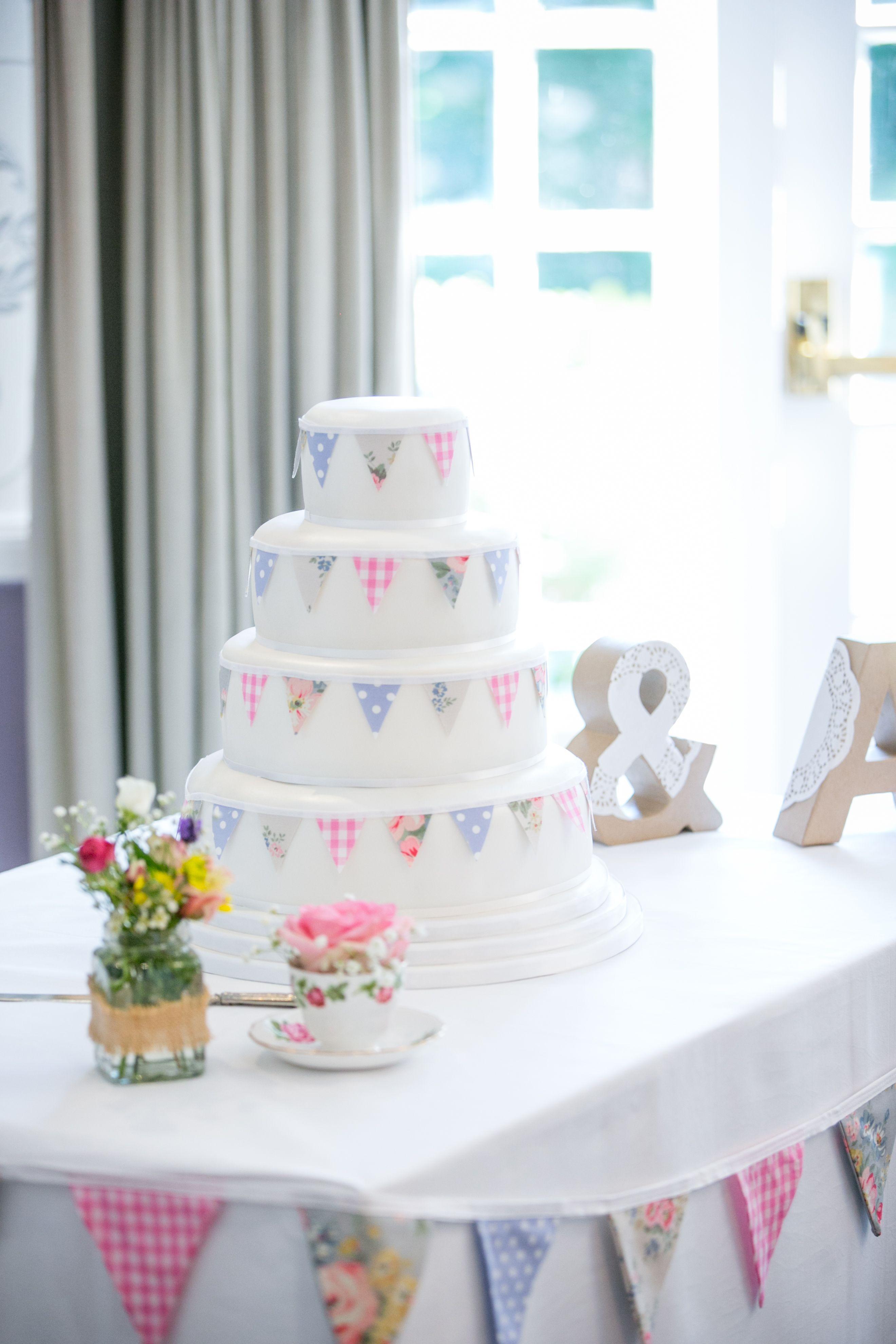 Cath Kidston bunting cake | Lillian | Pinterest | Cath kidston ...