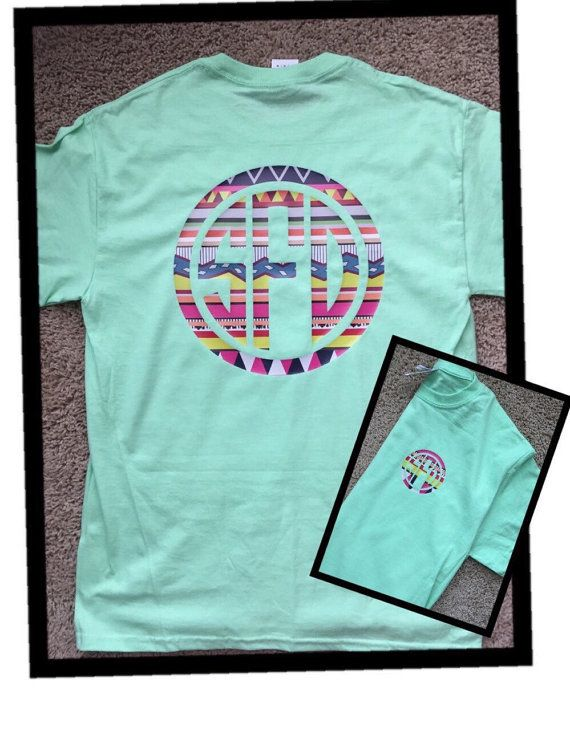 Monogram Tshirt With Pattern Vinyl Pocket Area Front And Full