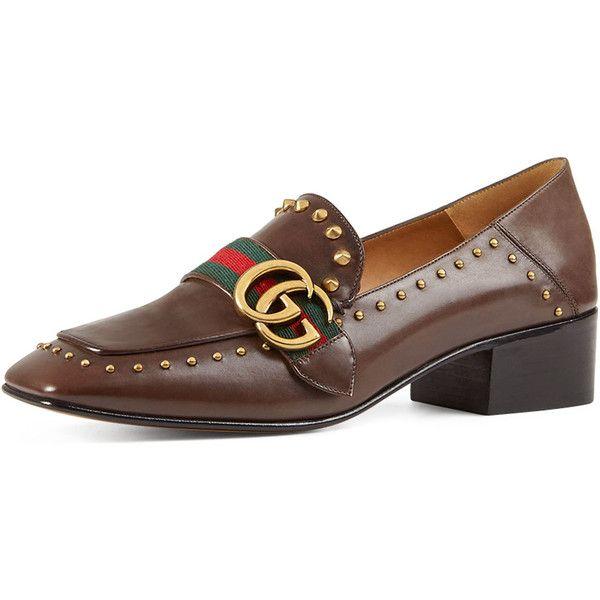 e186b2bdadac Gucci Peyton Studded Square-Toe Loafer ( 1