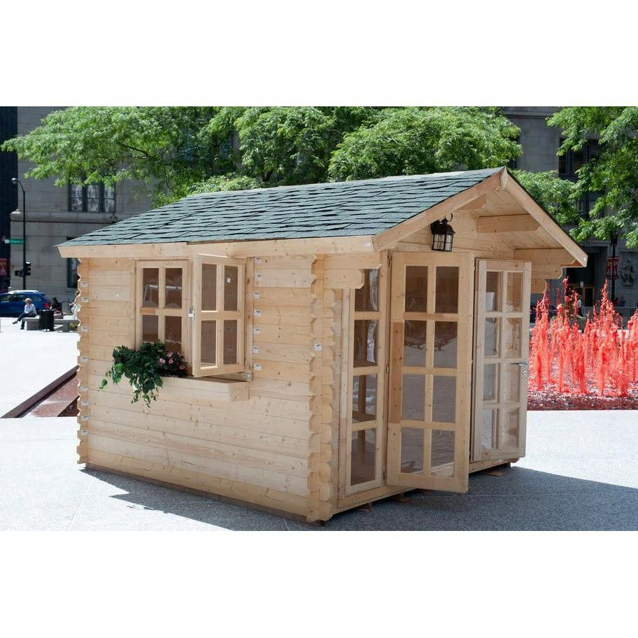 Solidbuild Brighton 10 Ft W X 10 Ft D Solid Wood Garden Shed Garden In The Woods Garden Sheds For Sale Building A Shed