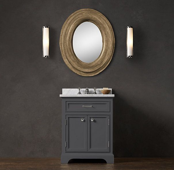 Restoration Hardware Kent Powder Vanity Sink. Love The Grey That This  Console Comes In And