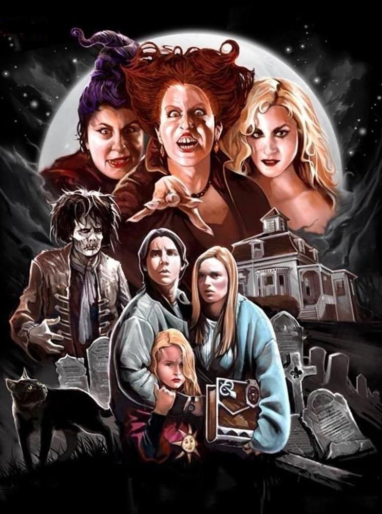 Hocus Pocus Diamond Painting Best Halloween Movies Halloween Wallpaper Fright Rags