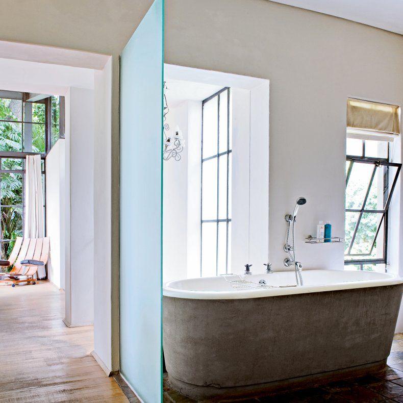 une maison aux couleurs pop salle de bains bathrooms. Black Bedroom Furniture Sets. Home Design Ideas