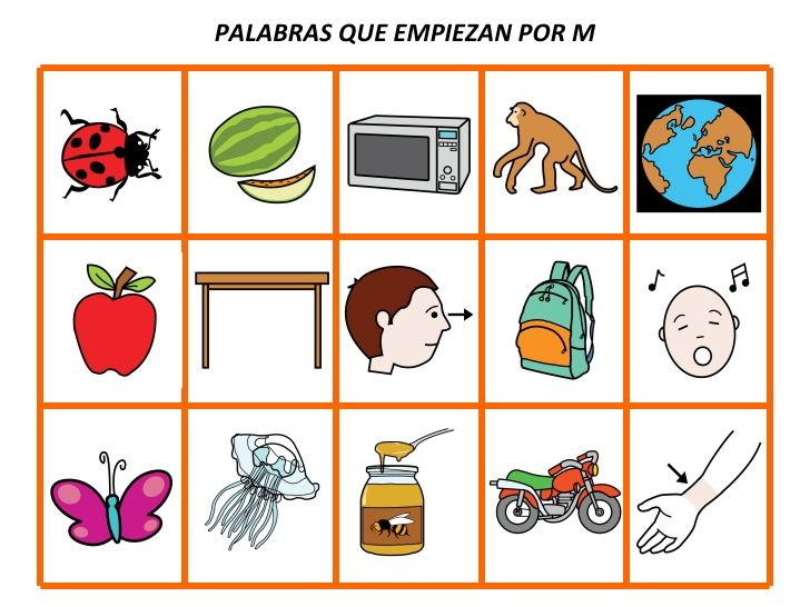 39216646 Palabras Que Empiezan Por Teacch Preschool Dual Language